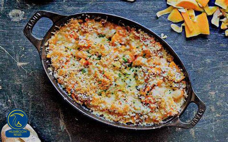 خوراک گراتن سبزیجات و قارچ, هاگ