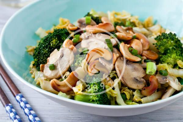 کالری قارچ نسبت به سبزیجات