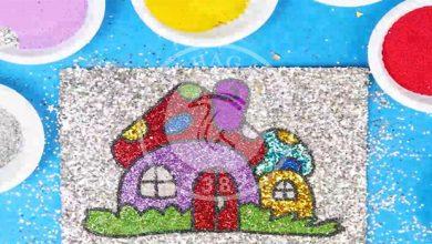 نقاشی قارچی با شن های رنگی, هاگ