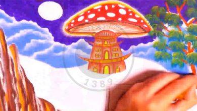 نقاشی برج قارچی, هاگ